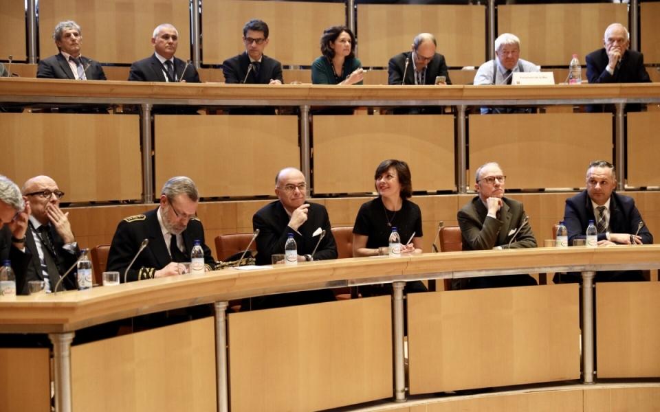 Hérault - Le Premier ministre assiste à la présentation des conclusions du rapport sur la préservation et la modernisation du littoral languedocien à l'Hôtel de région Occitanie