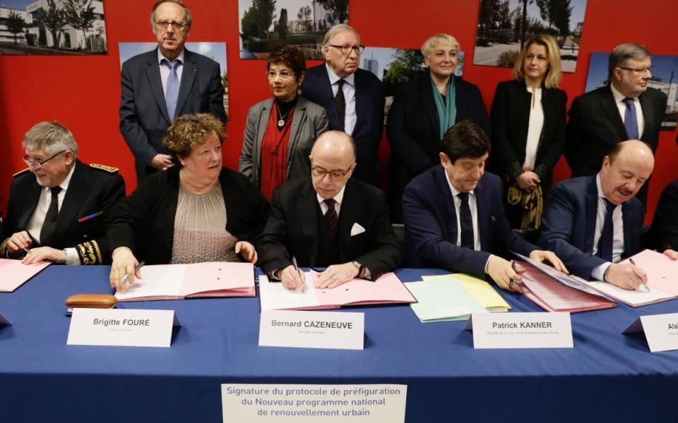 Signature du protocole de préfiguration du Nouveau programme national de renouvellement urbain