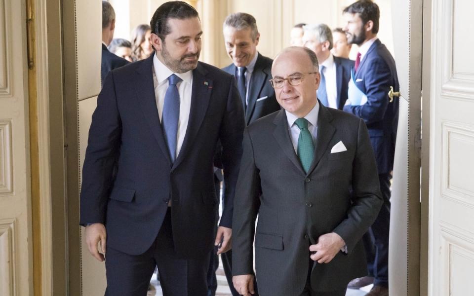 Le Premier ministre accueille son homologue libanais à l'Hôtel de Matignon