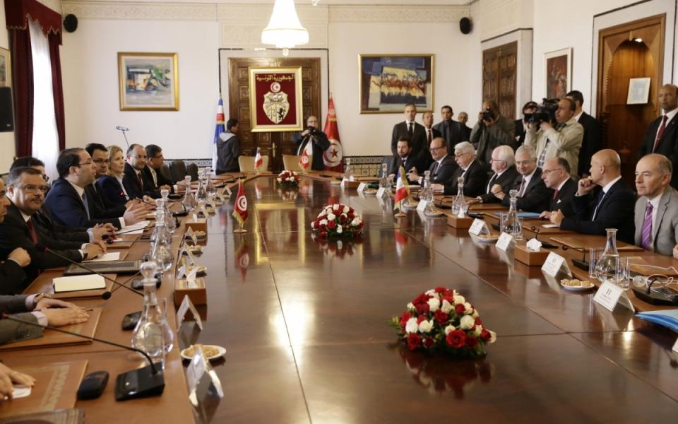 07/04 - Entretien en format élargi du Premier ministre avec le Chef du gouvernement tunisien