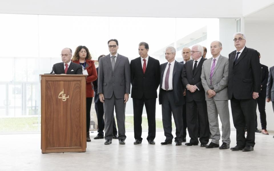 07/04 - Allocution du Premier ministre sur le thème de la sécurisation des sites culturels au musée du Bardo