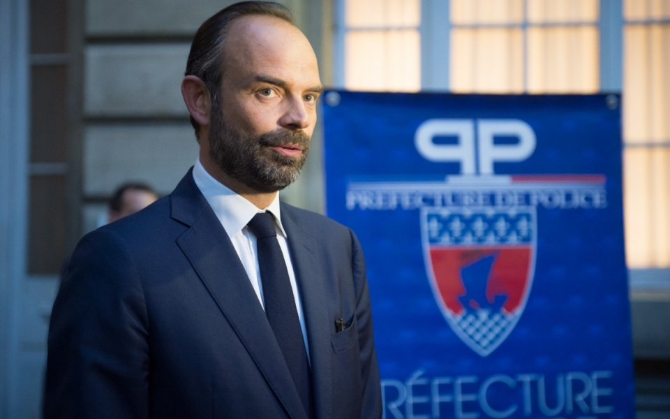 Le Premier ministre Édouard Philippe à la préfecture de police de Paris