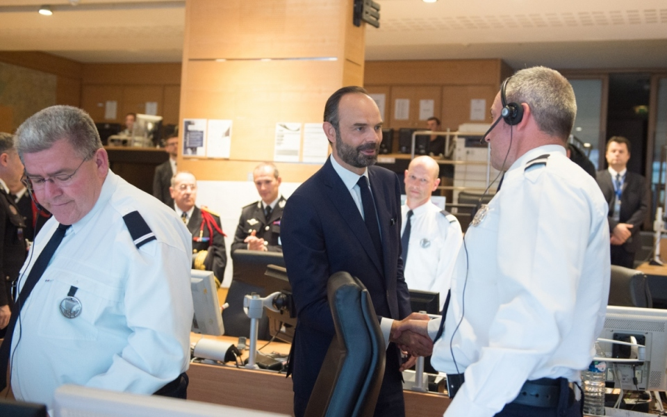 Visite du poste de contrôle de la préfecture de police