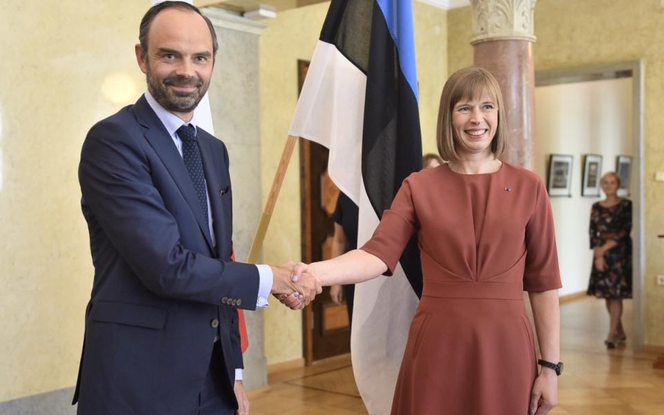 Edouard Philippe rencontre, à Tallinn, la Présidente de la République d'Estonie, Kersti Kaljulaid