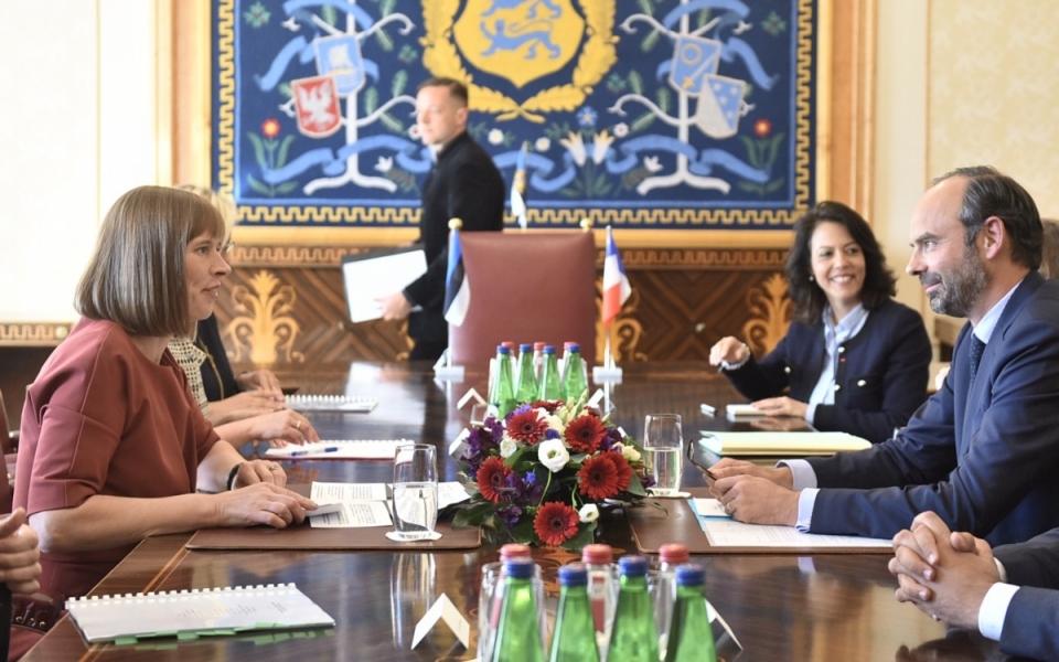 Réunion de travail avec la Présidente de la République d'Estonie, Kersti Kaljulaid