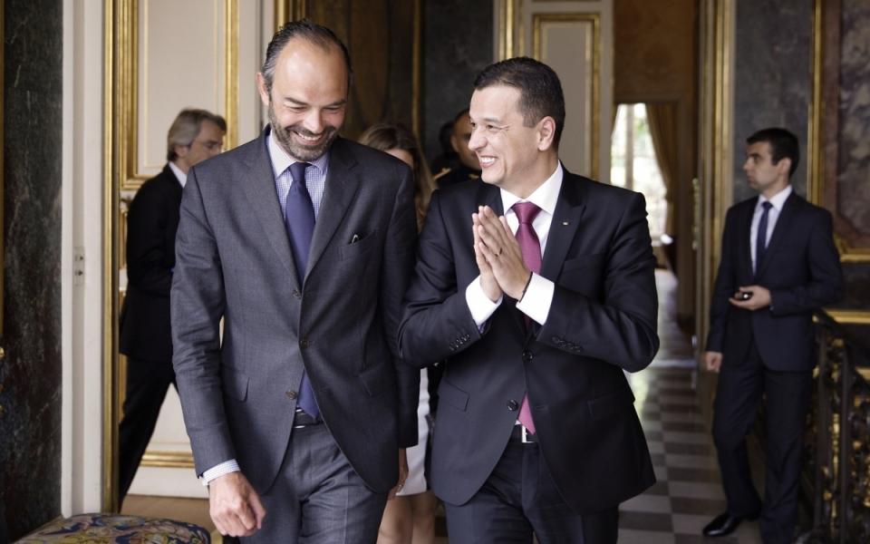 Édouard Philippe et Sorin Grindeanu