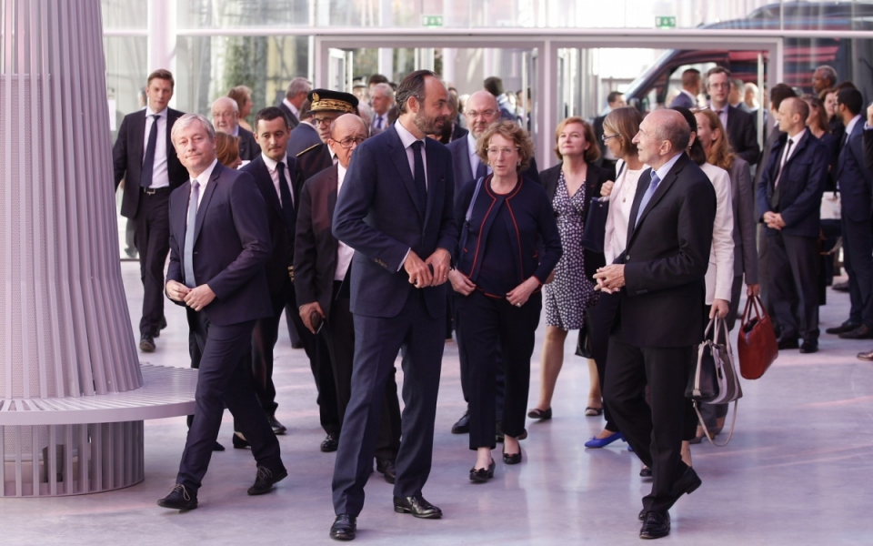 Le Premier ministre et les membres du Gouvernement lors de l'arrivée au Séminaire gouvernemental, le 30 juin