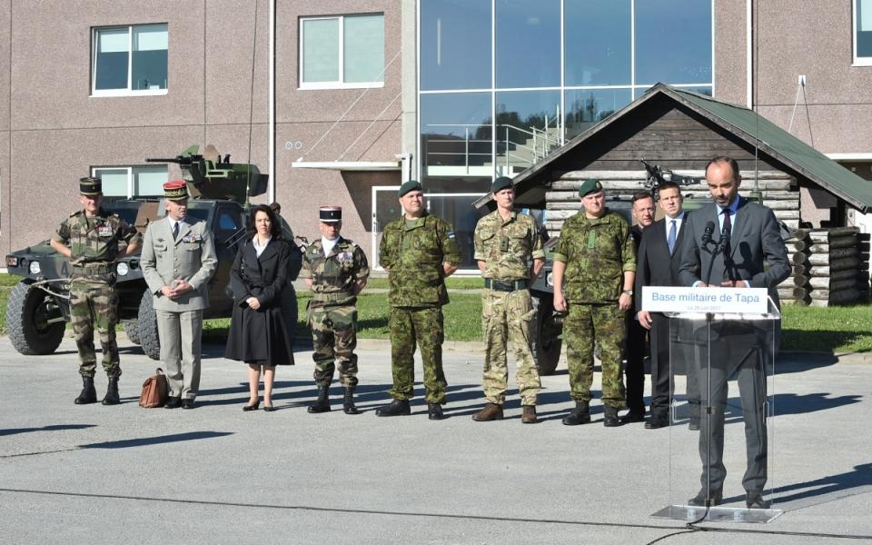 Allocution du Premier ministre devant les soldats du détachement Lynx
