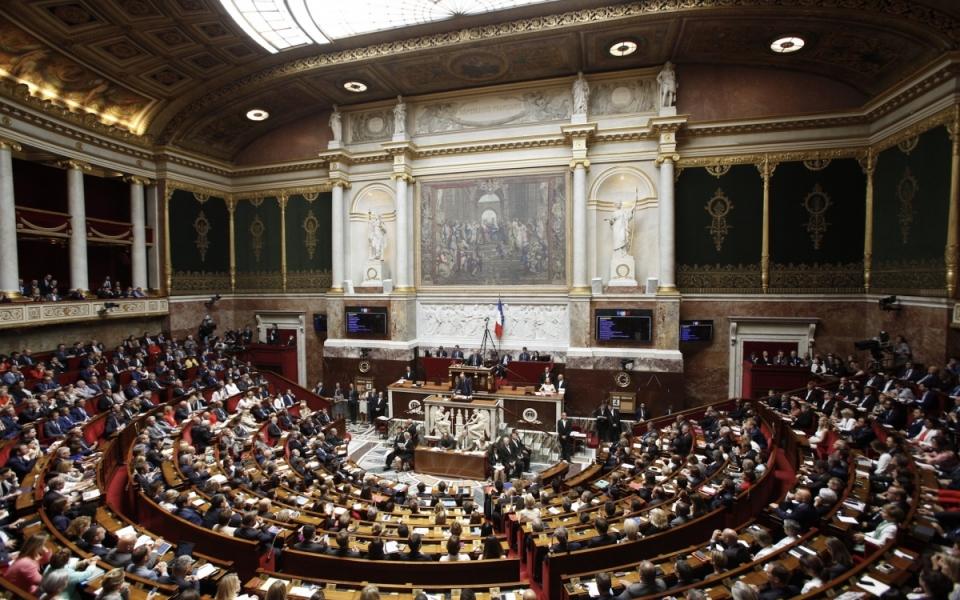 L'hémicycle de l'Assemblée nationale, le 4 juillet 2017