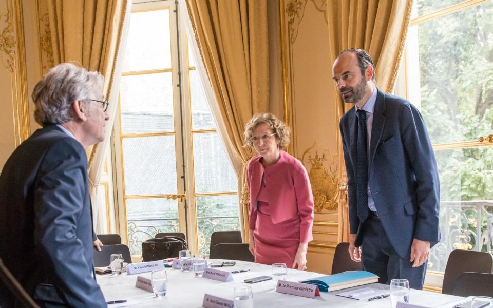 25/07 - Édouard Philippe et Muriel Pénicaud s'entretiennent avec Jean-Claude Mailly