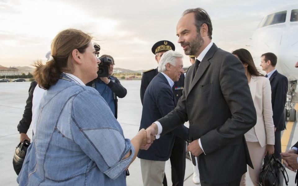 Le Premier ministre a atterri à l'aéroport de Toulon-Hyères