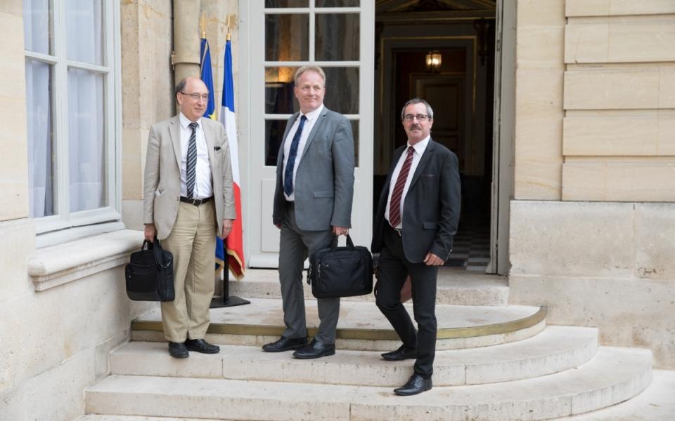 27/07 - Arrivée de François Hommeril, Président de la CFE-CGC, à l'Hôtel de Matignon