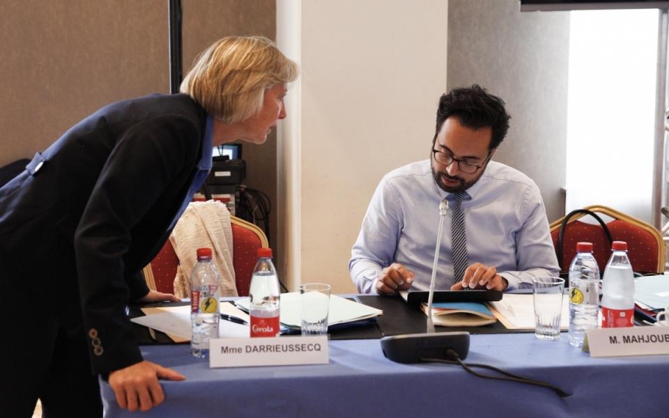 Mounir Mahjoubi et Sophie Cluzel, lors du séminiare gouvernemental, le 1er juillet