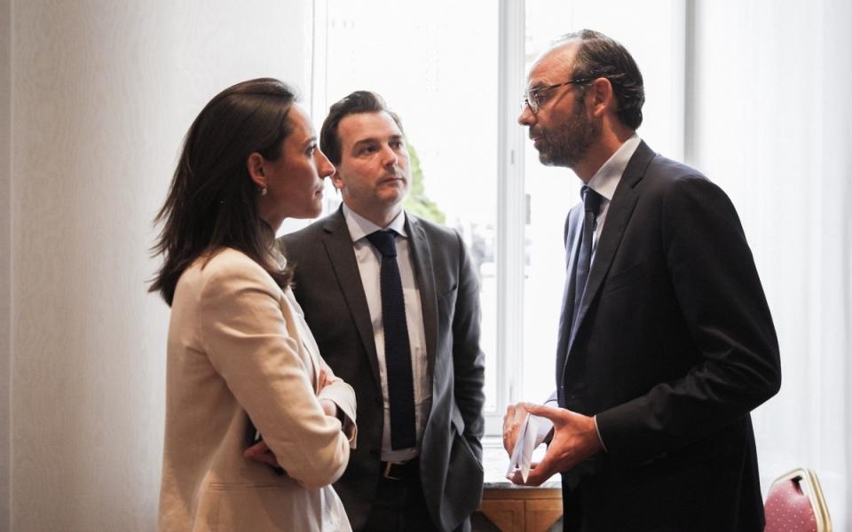 Edouard Philippe, Brune Poirson et Sébastien Lecornu