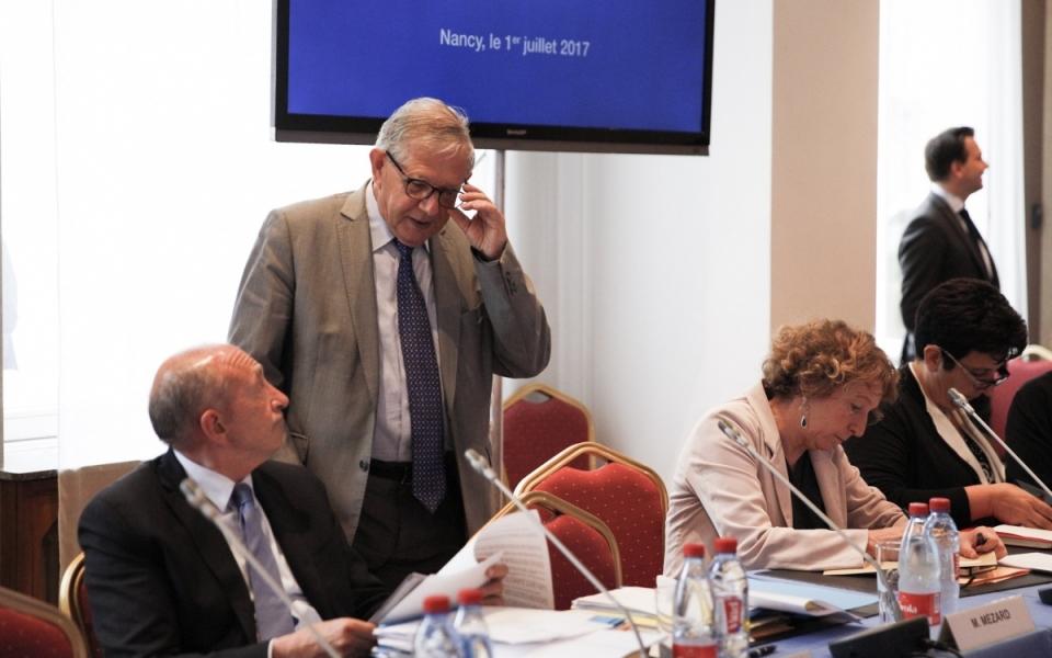 Muriel Pénicaud, Gérard Collomb et Jacques Mézard