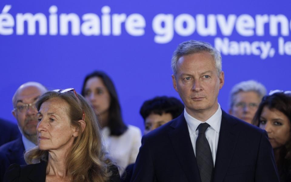Bruno Le Maire et Nathalie Loiseau, lors du séminiaire gouvernemental, le 1er juillet