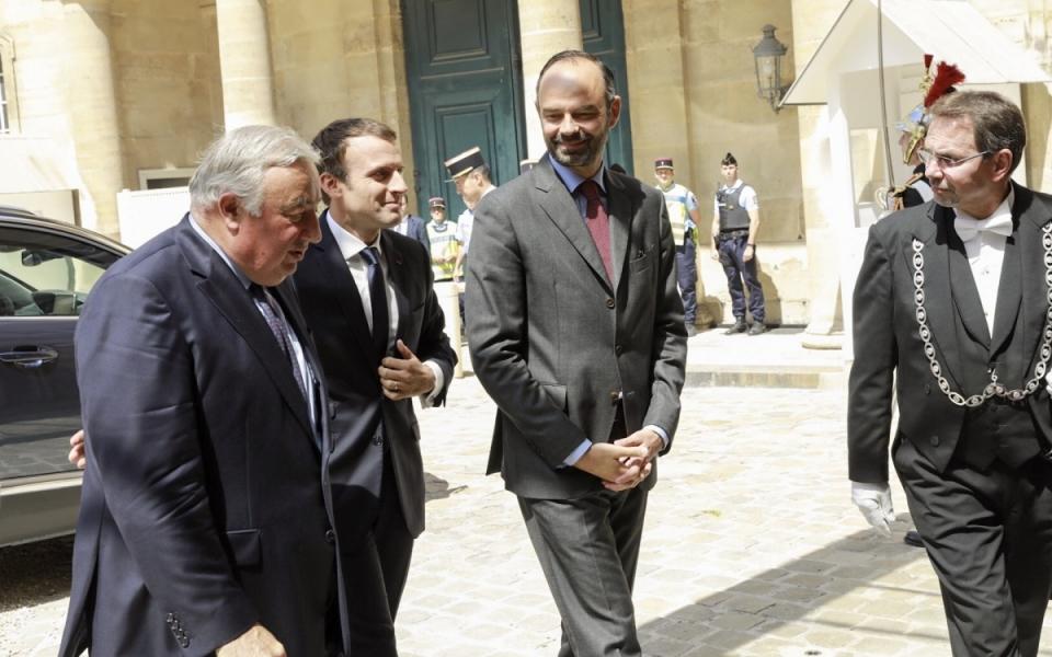 Arrivée du Président de la République au Palais du Luxembourg