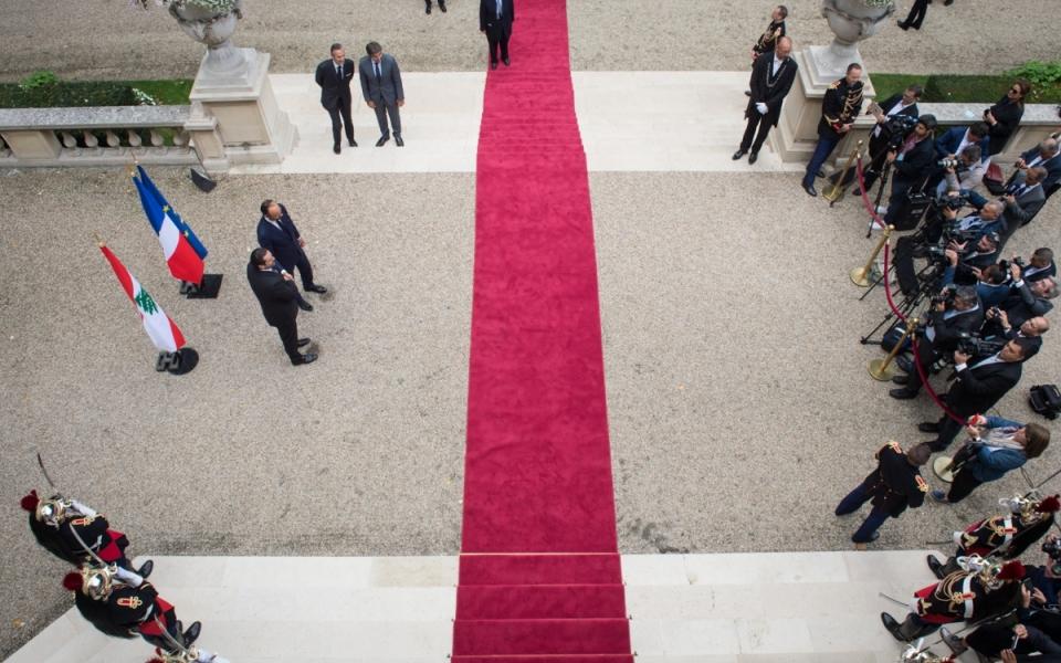 Édouard Philippe et Saad Hariri lors du point presse