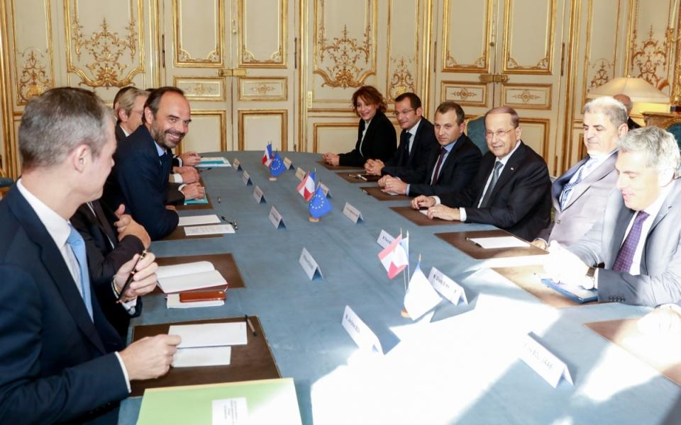 Réunion avec la délégation libanaise