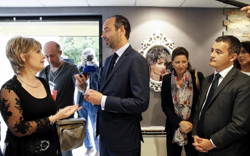 Edouard Philipppe à la rencontre des travailleurs indépendants