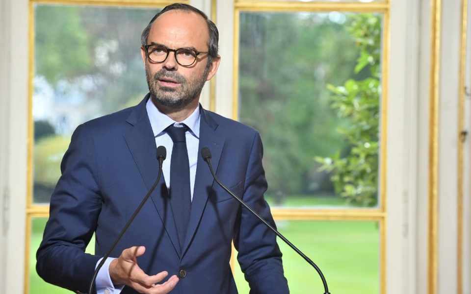 Le Premier ministre, Édouard Philippe, prononce un discours à l'issue du CIH