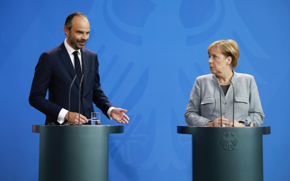Édouard Philippe et Angela Merkel en conférence de presse conjointe