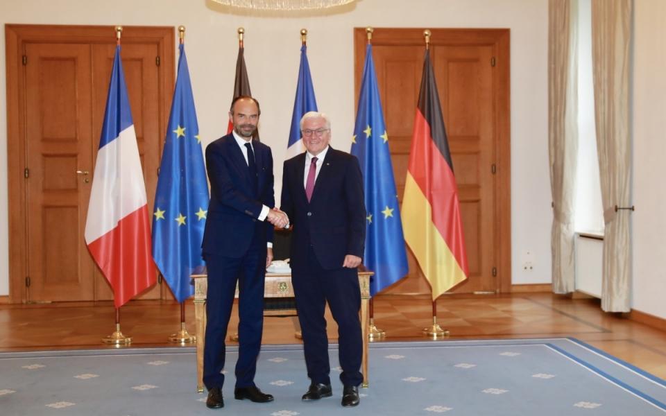 Rencontre entre Édouard Philippe et Frank-Walter Steinmeir, Président de la République fédérale d'Allemagne.