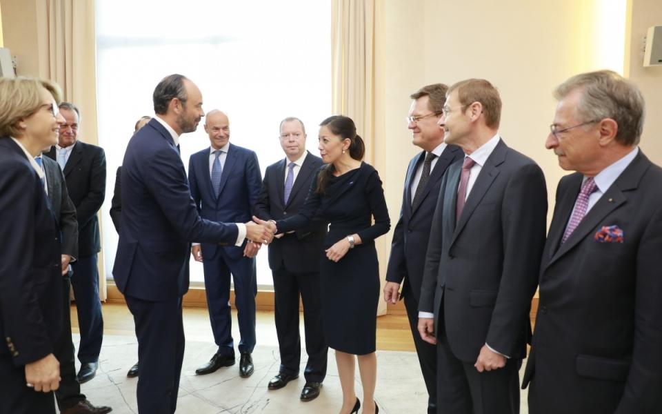 Edouard Philippe est reçu par un panel des dirigeants d'entreprises allemands
