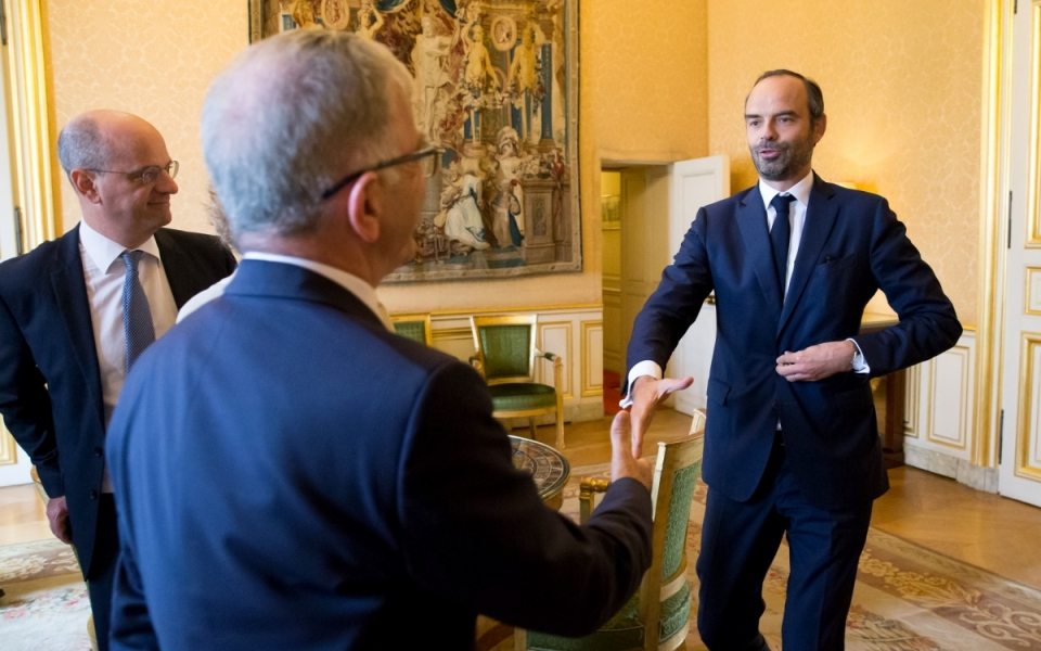 19/10 - Troisième et dernière journée d'entretiens : le Premier ministre, Édouard Philippe, reçoit François Bonneau, le président de l'Assemblée des Régions