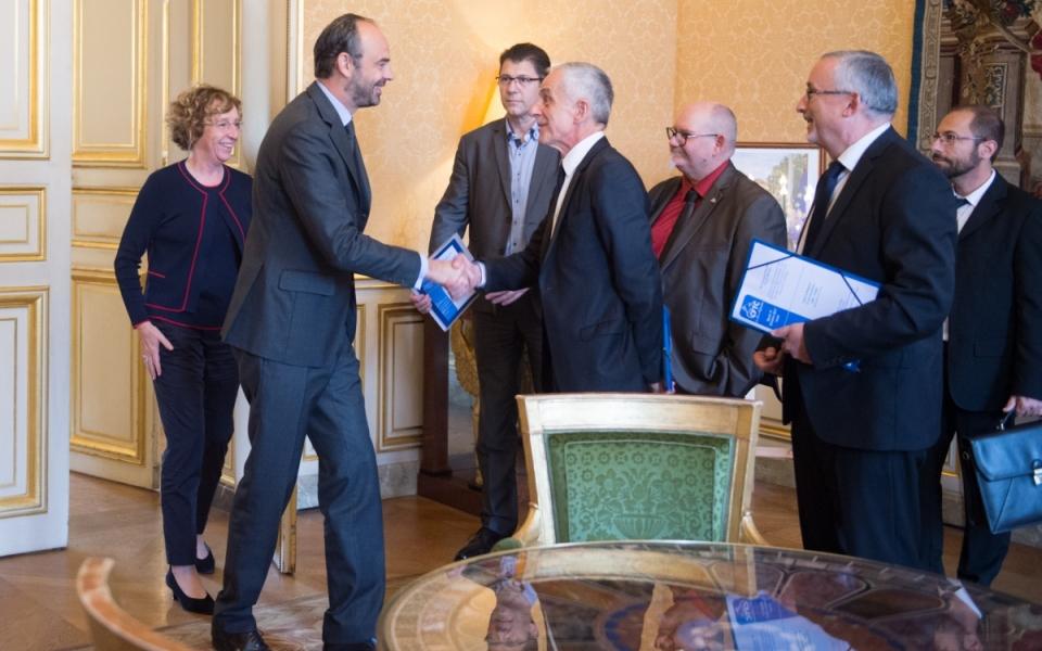 17/10 - Le Premier ministre accueille Philippe Louis, président de la CFTC