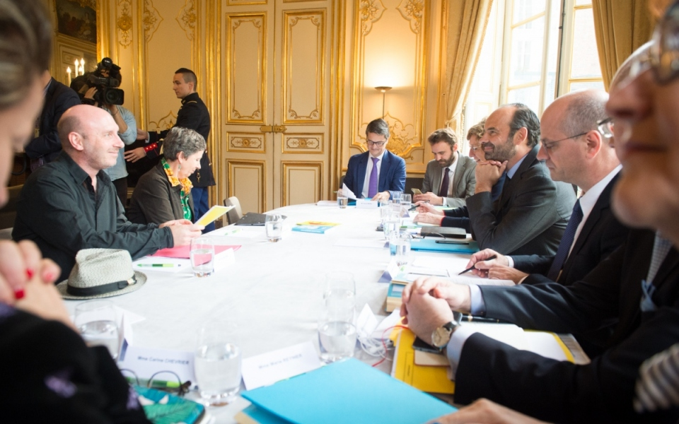 17/10 - Entretien entre les membres du Gouvernement et la secrétaire nationale de l'union syndicale Solidaires