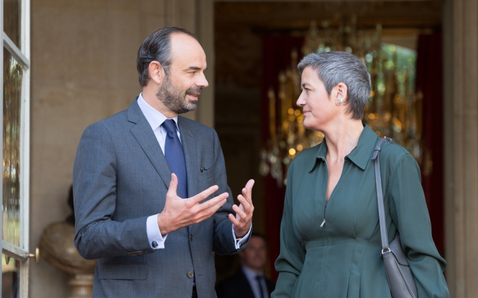 Édouard Philippe and Margrethe Vestager