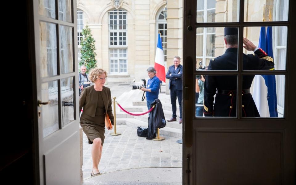 18/10 - Arrivée de la ministre du Travail, Muriel Pénicaud, à l'Hôtel de Matignon