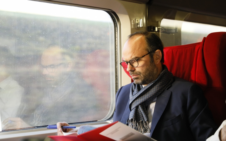 Departure for Brussels by train