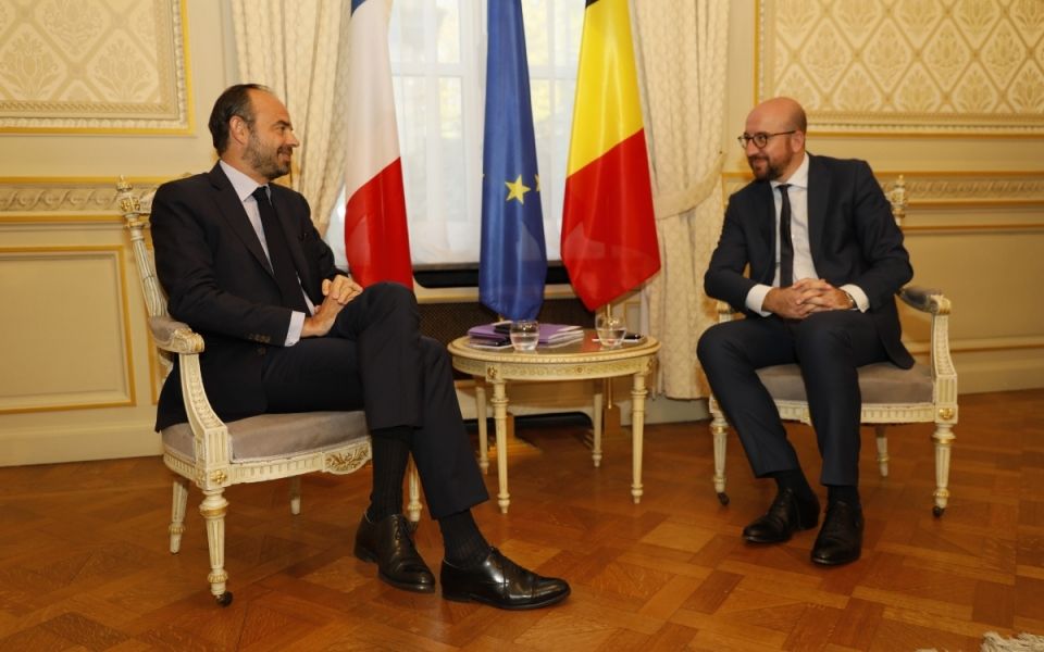 Talks with the Belgian Prime Minister, Charles Michel