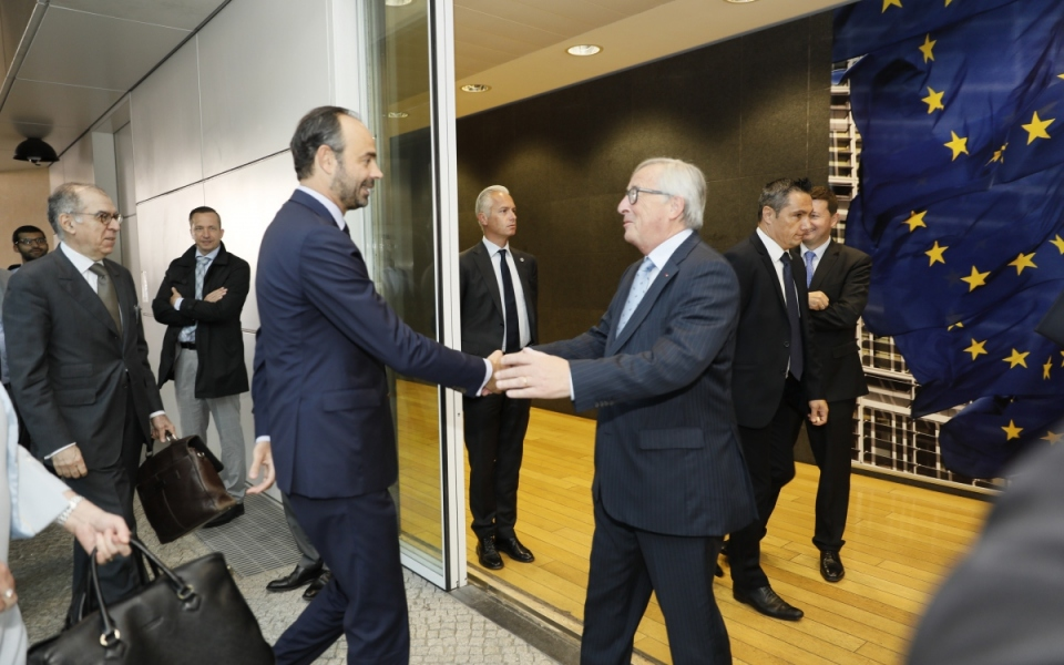 Accueil par Jean-Claude Juncker, Président de la Commission européenne