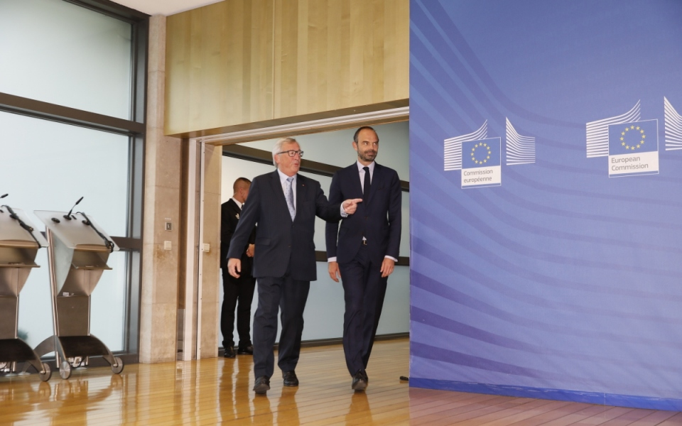 Arrival at the European Commission