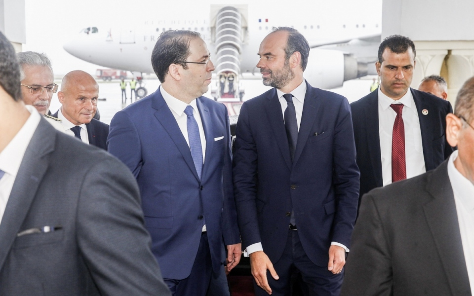 The Prime Minister arrives in Tunis