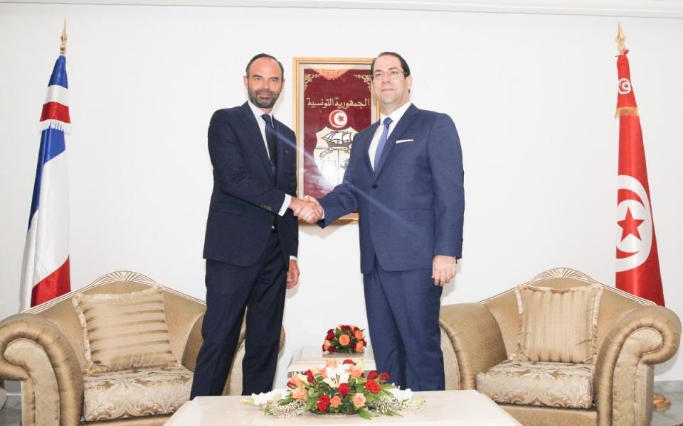 Édouard Philippe et le chef du gouvernement de la République tunisienne