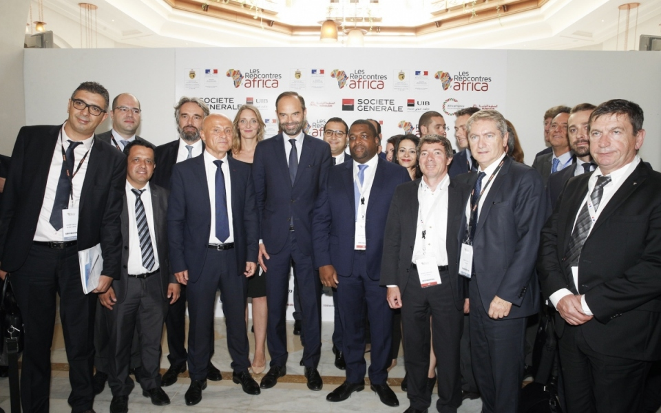 The Prime Minister and the Business France Tunis delegation