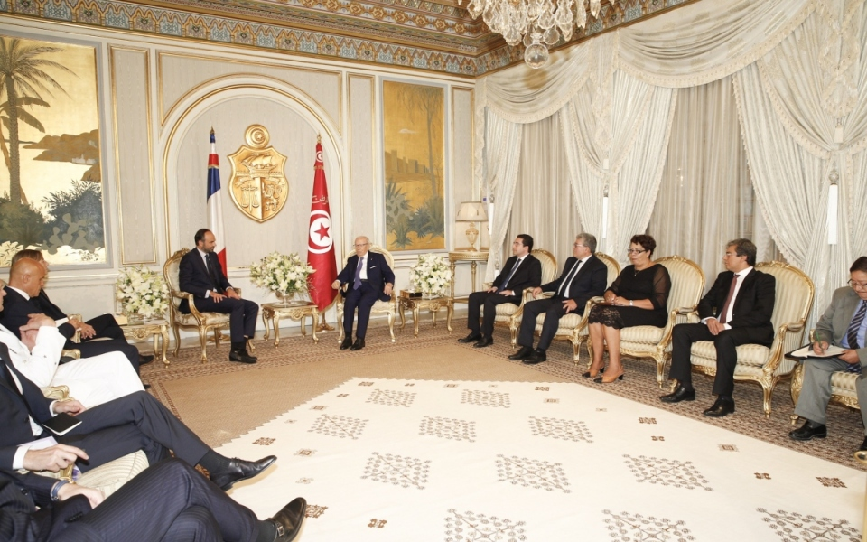 Édouard Philippe in conversation with the President of the Republic, Beji Caïd Essebsi