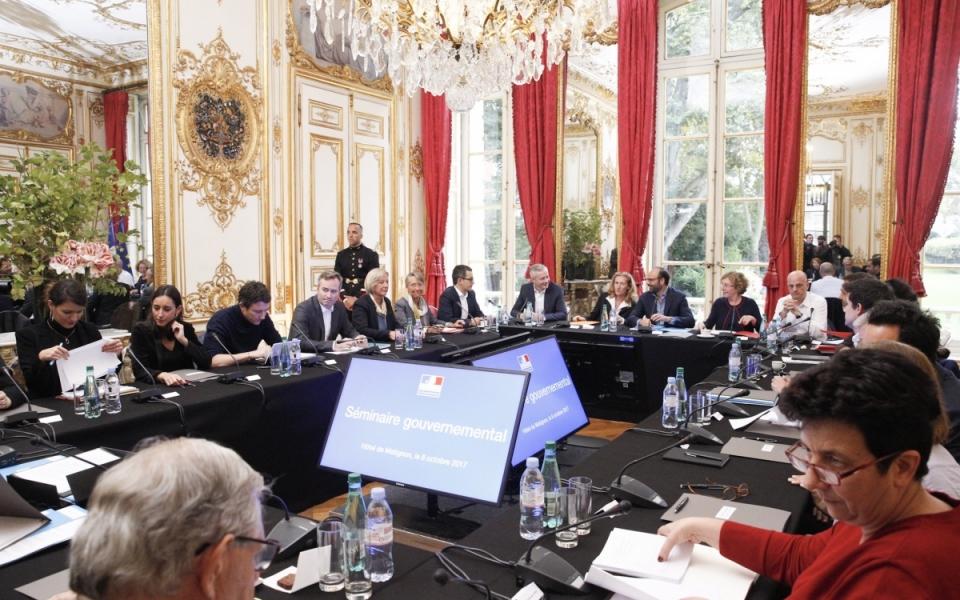 L'ensemble du Gouvernement réuni en séminaire de travail à l'Hôtel de Matignon