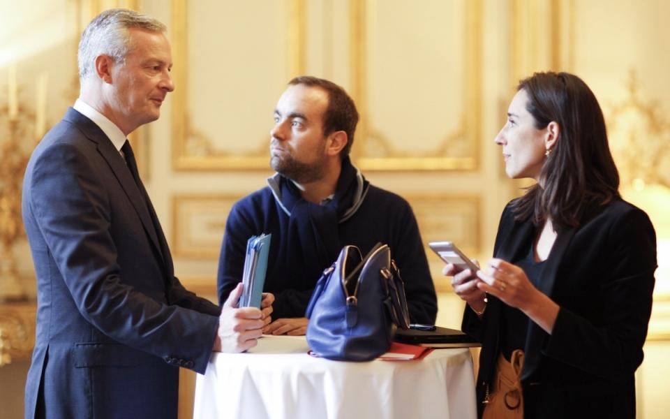 Bruno Le Maire, Sébastien Lecornu et Brune Poirson