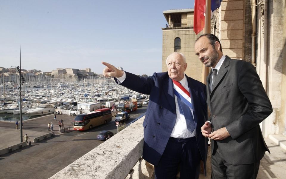 Le Premier ministre et Jean-Claude Gaudin, maire de Marseille