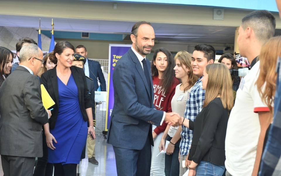Le Premier ministre et la secrétaire d'État ont rencontré les lycéens