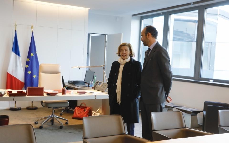 Édouard Philippe et Florence Parly à l'Hexagone-Balard