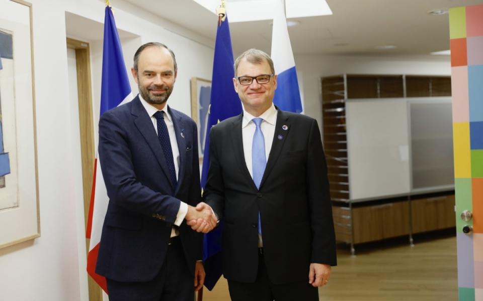 Le Premier ministre et son homologue finlandais, Juha Sipilä