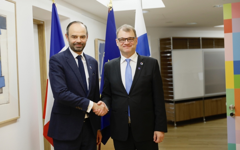 The Prime Minister and his Finnish counterpart, Juha Sipilä