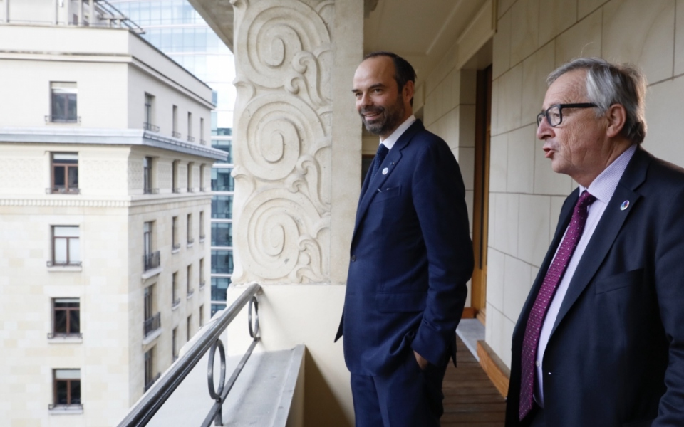 Le Premier ministre avec Jean-Claude Juncker, président de la Commission européenne