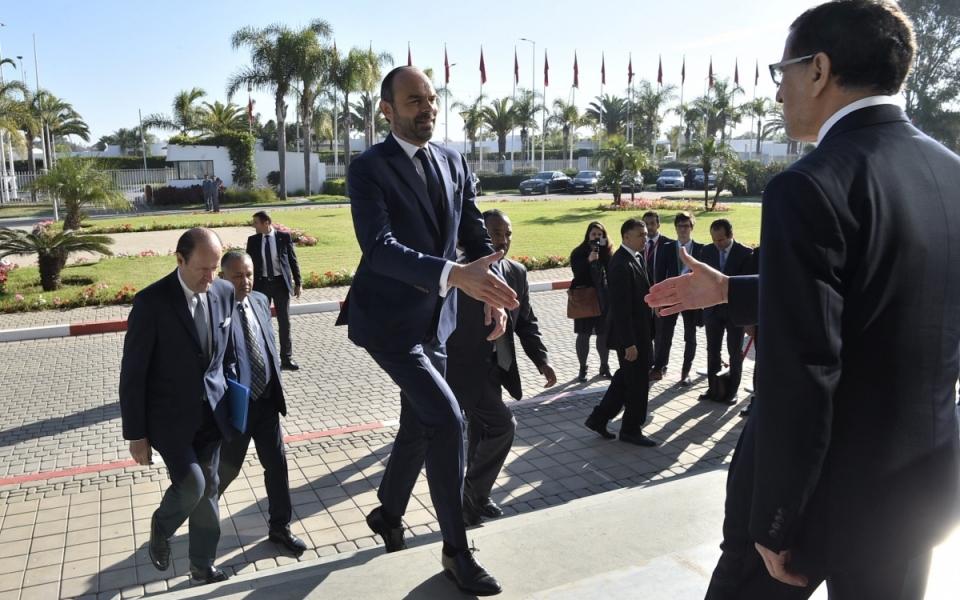 Accueil du Premier ministre à son arrivée